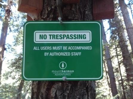 No Trespassing